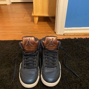 Jordan 5 retro navy blue/bronze